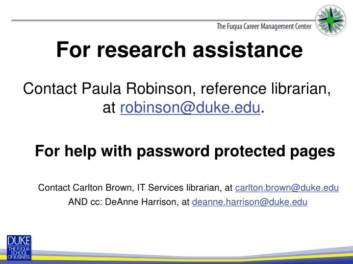 For help with password protected pages