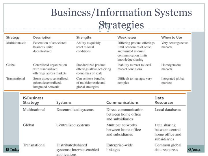 Business/Information Systems Strategies