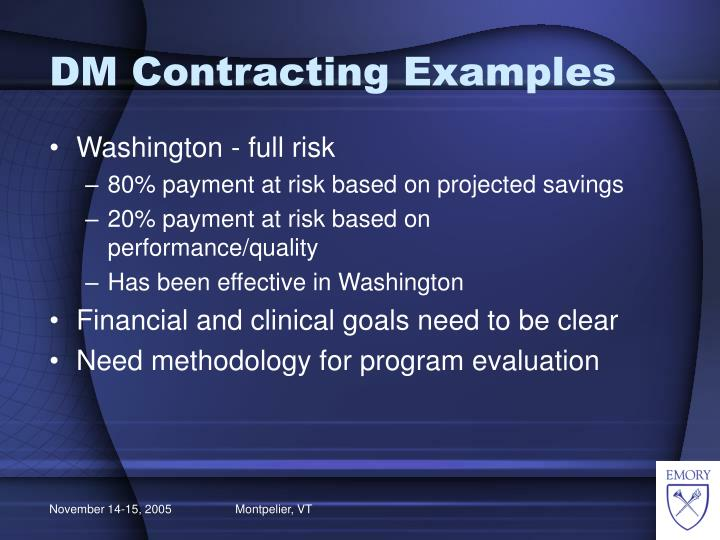 DM Contracting Examples