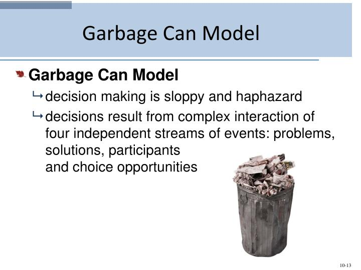 the garbage can model of decision making