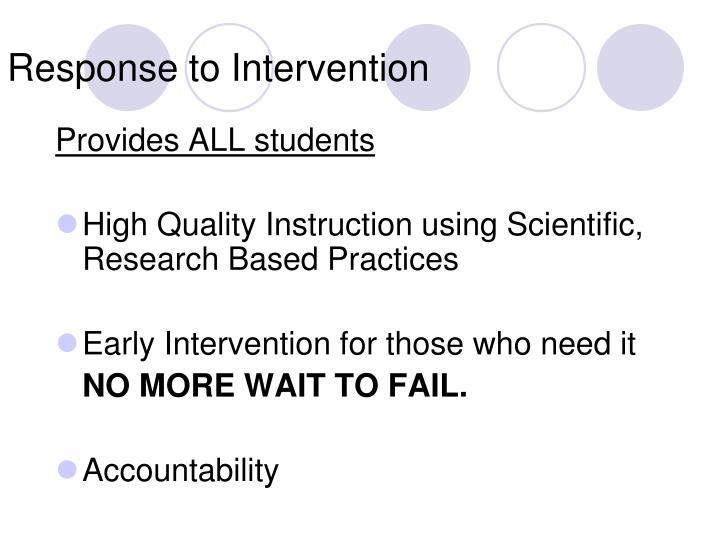 Response to intervention2