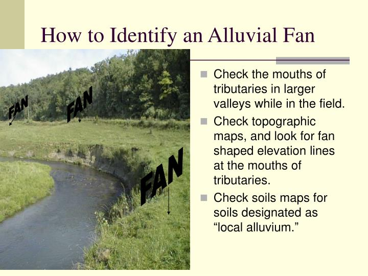 How to Identify an Alluvial Fan