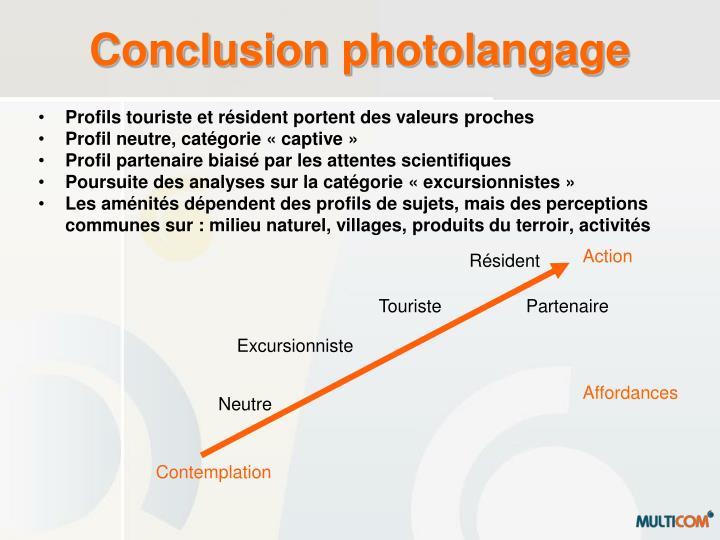 Conclusion photolangage