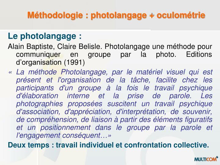M thodologie photolangage oculom trie