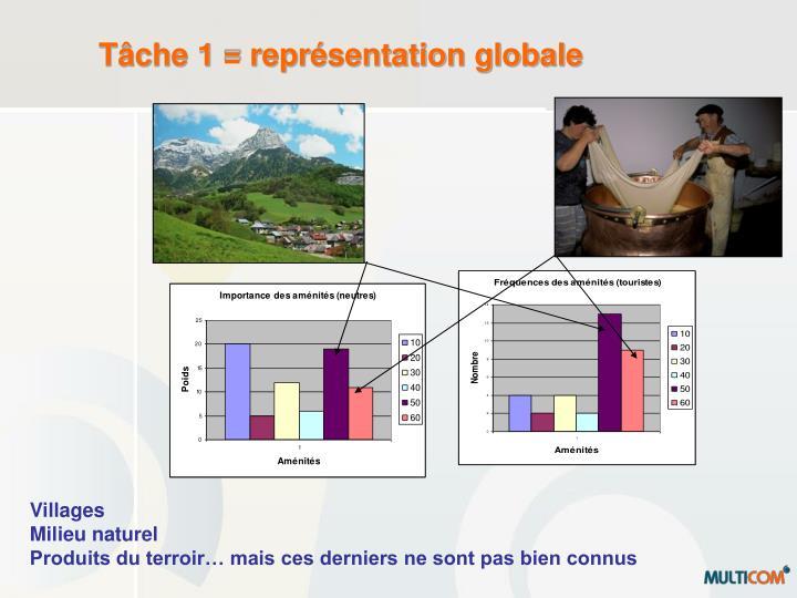 Tâche 1 = représentation globale