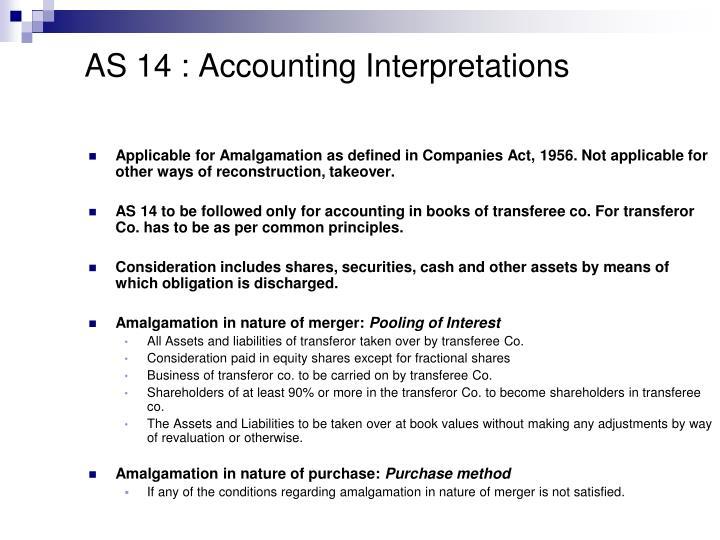 AS 14 : Accounting Interpretations