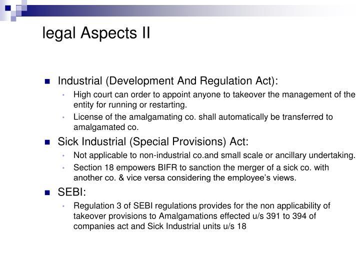 legal Aspects II