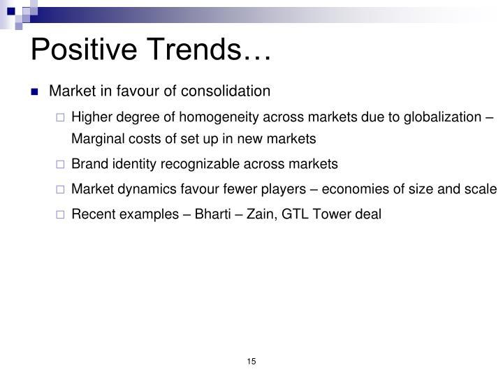 Positive Trends…