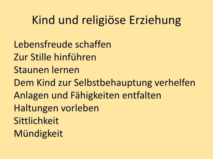 Kind und religi se erziehung2