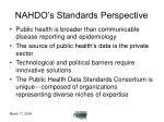 nahdo s standards perspective