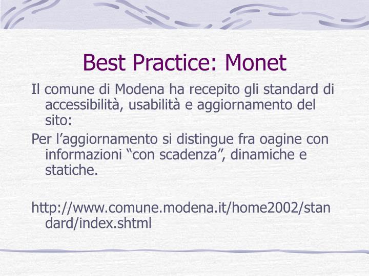 Best Practice: Monet