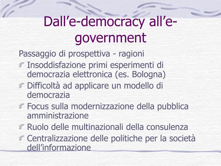 Dall'e-democracy all'e-government