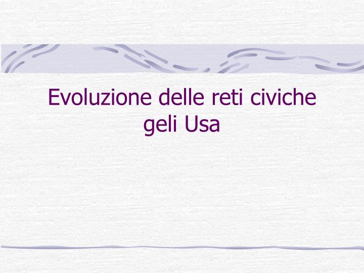 Evoluzione delle reti civiche geli Usa