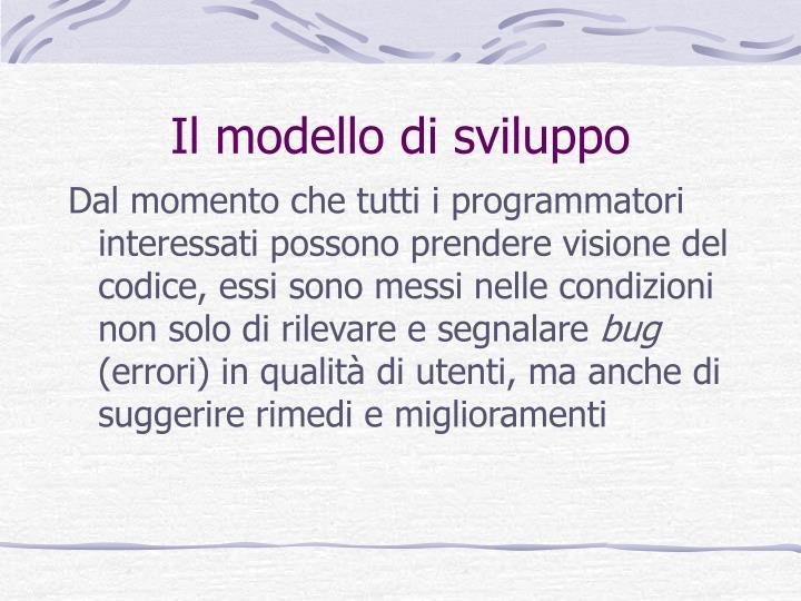 Il modello di sviluppo