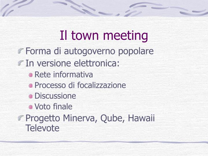 Il town meeting