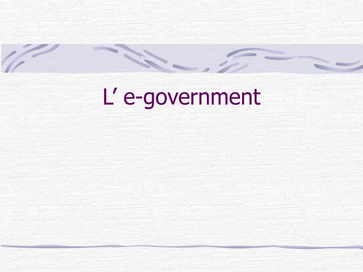 L' e-government