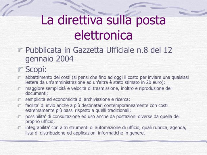 La direttiva sulla posta elettronica