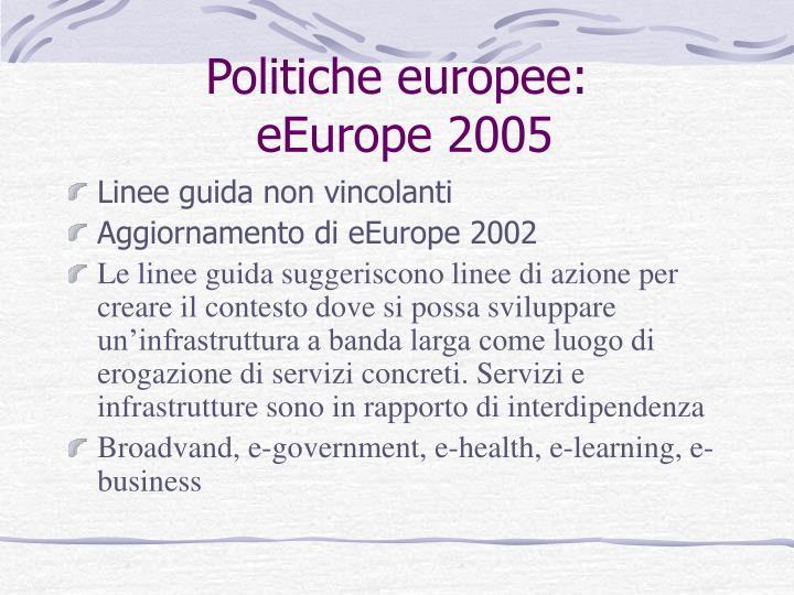 Politiche europee: