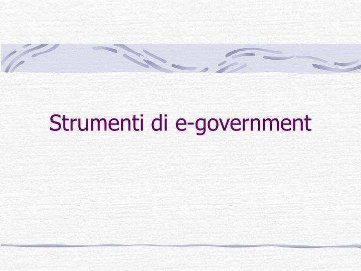 Strumenti di e-government