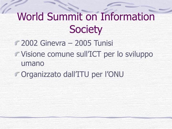 World Summit on Information Society