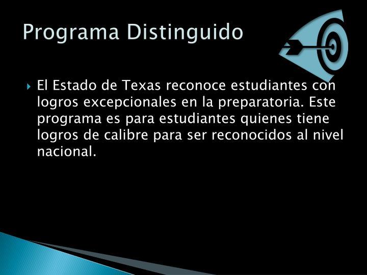 Programa Distinguido