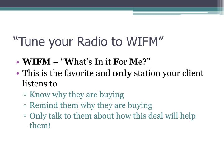 """""""Tune your Radio to WIFM"""""""