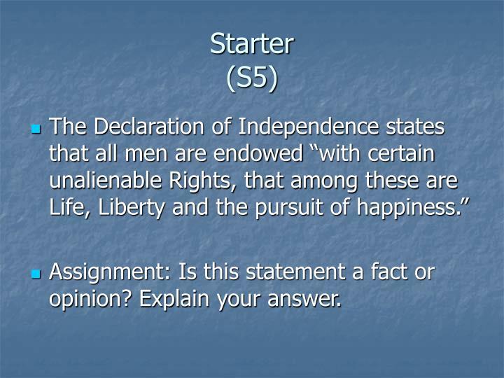 Starter s5