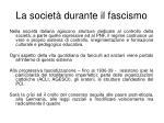 la societ durante il fascismo1