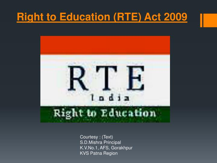 right to education act 2009