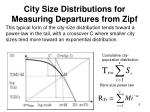 city size distributions for measuring departures from zipf1