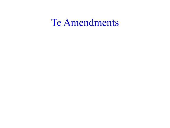 Te Amendments