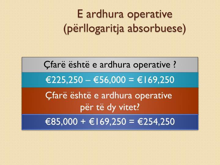 E ardhura operative