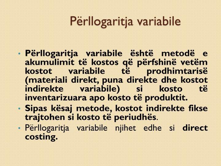 Përllogaritja variabile