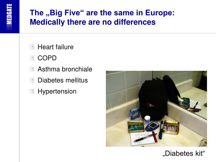 """The """"Big Five"""" are the same in Europe:"""