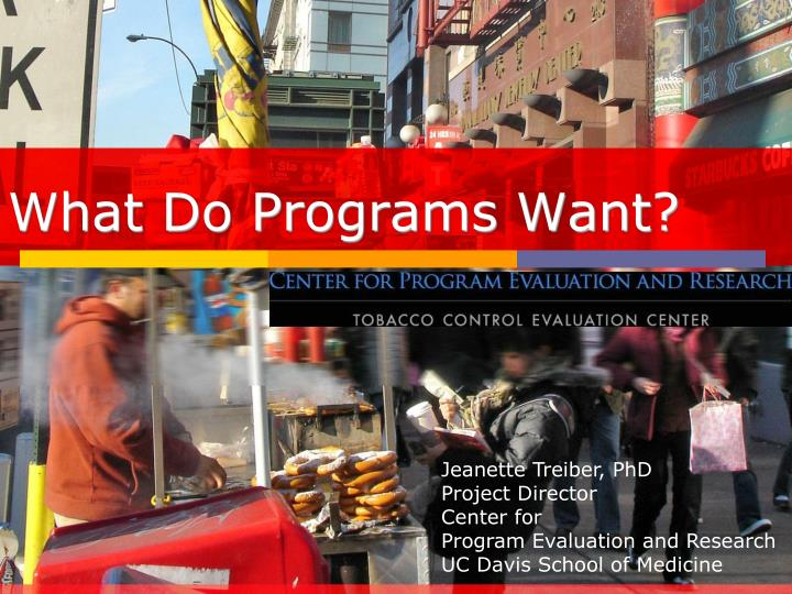 what do programs want n.