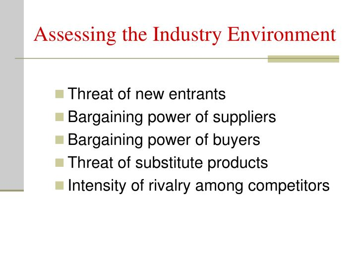 Assessing the Industry Environment