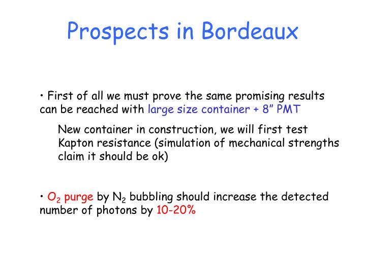 Prospects in Bordeaux