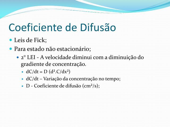 Coeficiente de Difusão