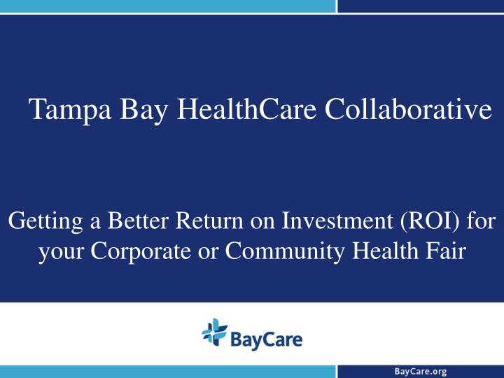 tampa bay healthcare collaborative n.
