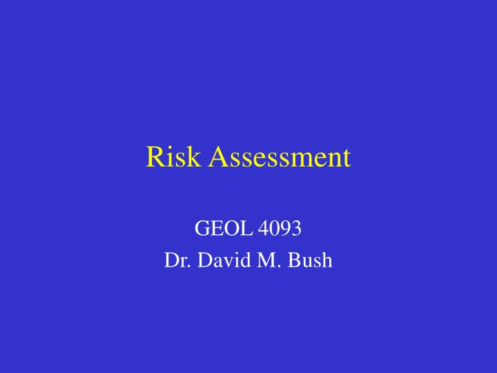 risk assessment n.