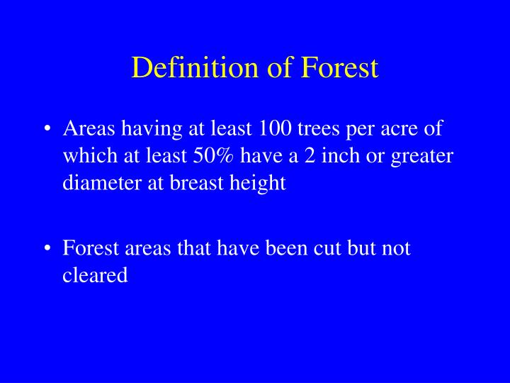 Definition of Forest