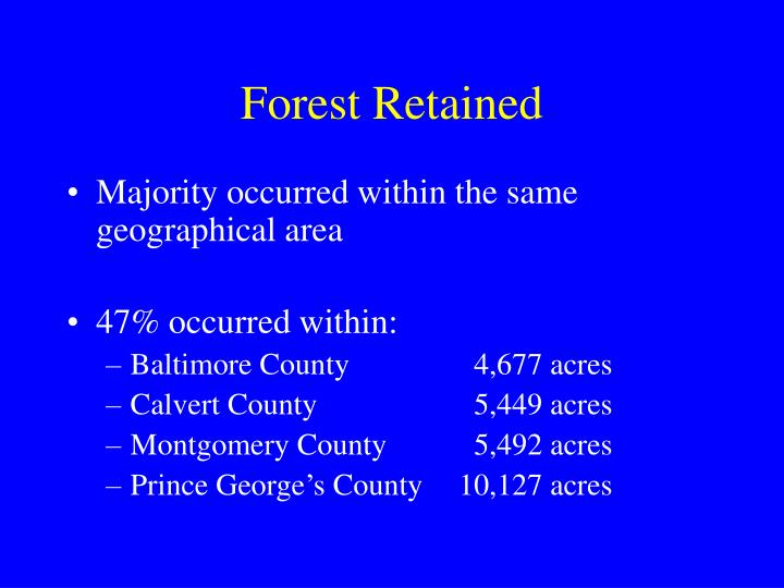 Forest Retained