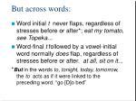 but across words