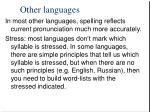 other languages