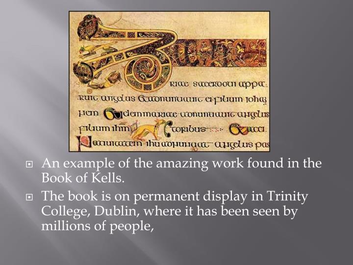 An example of the amazing work found in the Book of
