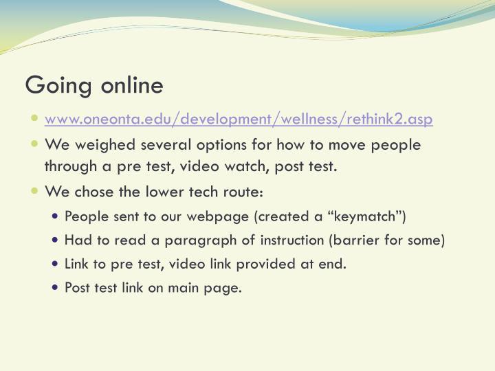 Going online