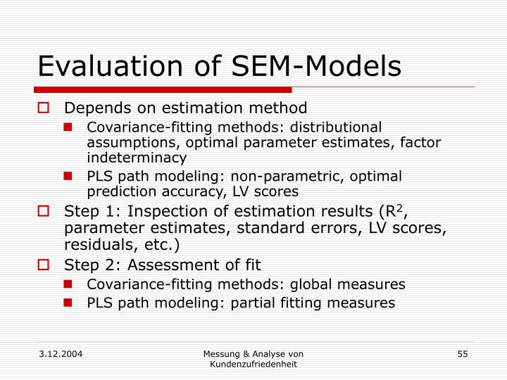 Evaluation of SEM-Models