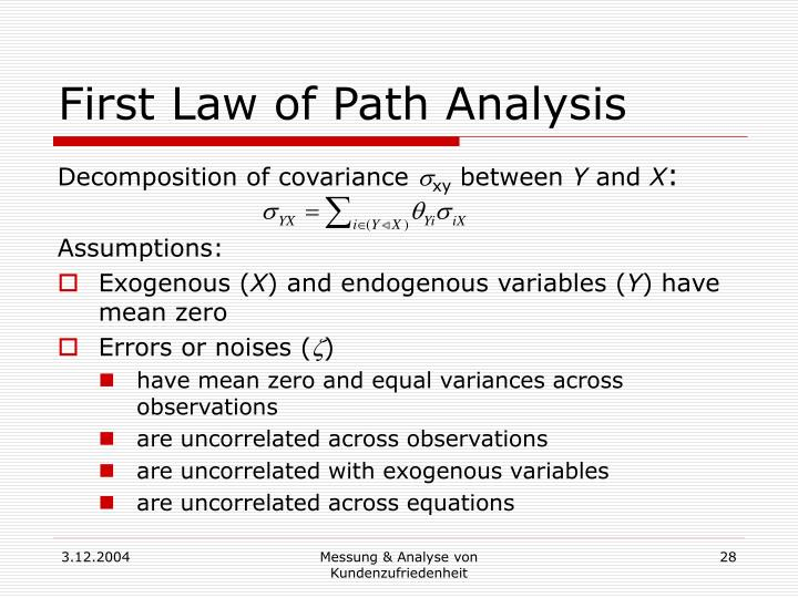First Law of Path Analysis