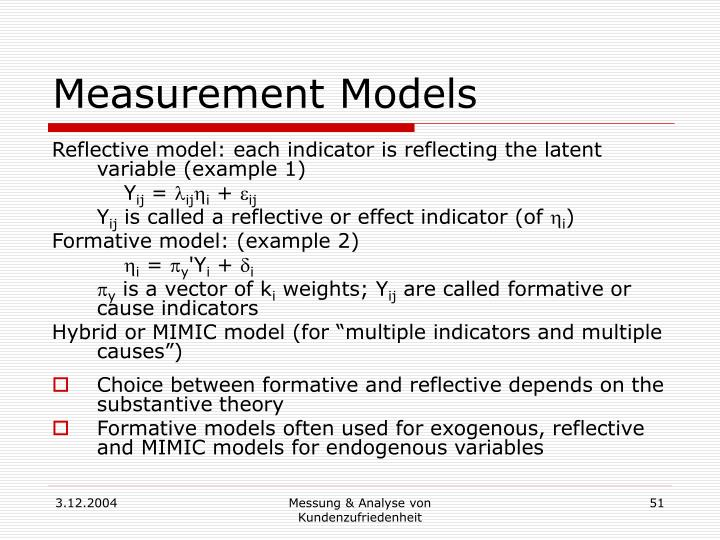 Measurement Models