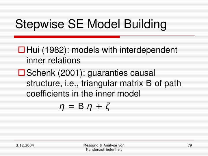 Stepwise SE Model Building